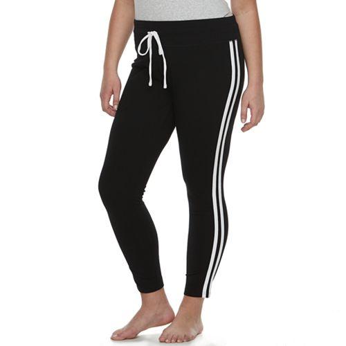 Plus Size SO® Side Stripe Yoga Leggings