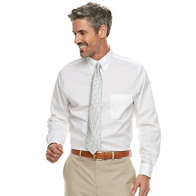 Men's Croft & Barrow® Classic-Fit No-Iron Dress Shirt