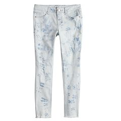 Girls 7-16 Mudd® Light Wash Destructed Skinny Jeans