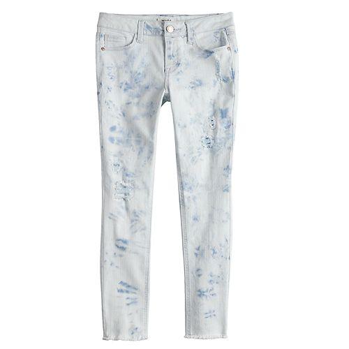 Girls 7-16 Mudd® Light Wash Destructed Skinny Jeans