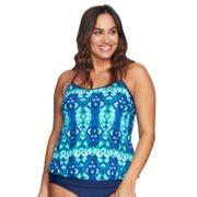 Plus Size Mazu Swim Blouson Tankini Top