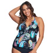 Plus Size Mazu Swim Paisley Halterkini Top