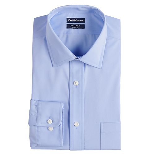 Men's Croft & Barrow® Regular-Fit Spread-Collar No-Iron Stretch Dress Shirt