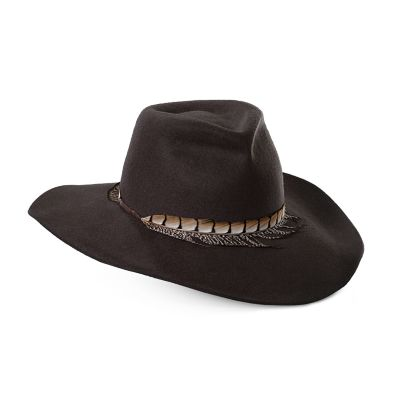 Women's Scala Feather Trimmed Safari Hat