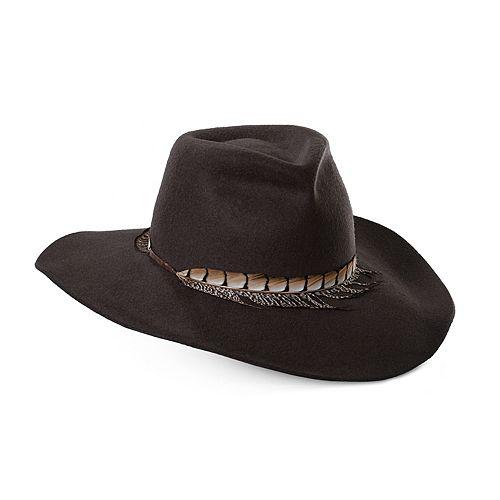Women's Scala Feather Trimmed Safari Hat