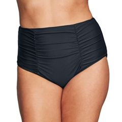 Plus Size Mazu Swim Ruched High-Waisted Bikini Bottoms