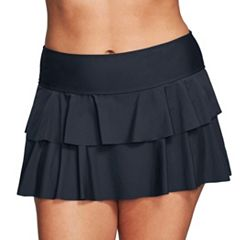 Plus Size Mazu Swim Double Ruffle Skirtini Bottoms