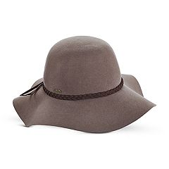 Women's Scala Wool Felt Braided Band Floppy Hat