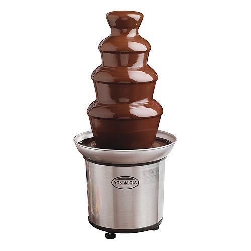 Nostalgia Electrics 4-Tier Chocolate Fondue Fountain