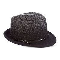 Women's Scala Two Tone Boiled Wool Fedora