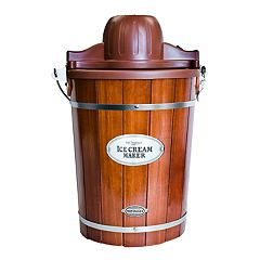 Nostalgia Electrics 6-qt. Ice Cream Machine with Wood Bucket