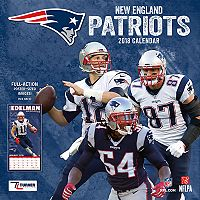 New England Patriots 2018 Wall Calendar
