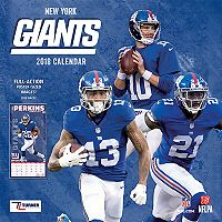 New York Giants 2018 Wall Calendar