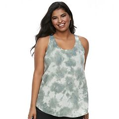 Juniors' Plus Size SO® Cutout Racerback Tank