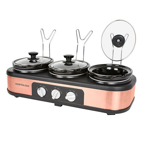 Nostalgia Electrics 3-Station 1.5-qt. Slow Cooker Buffet Server
