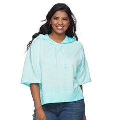 Juniors' Plus Size SO® Hooded Crop Sweatshirt