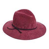 Women's Scala Chenille Faux Suede Trim Safari Hat
