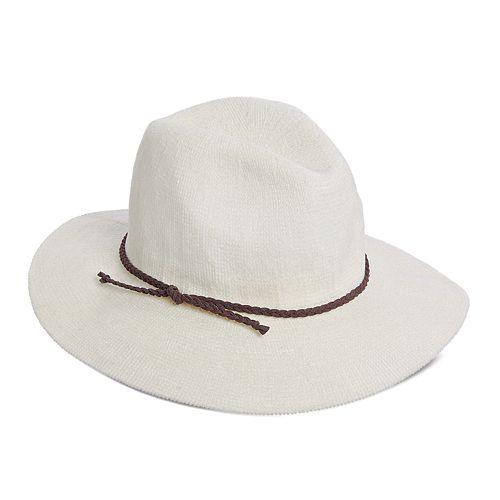 Women's Scala Chenille Faux Suede Trim Safari Hat