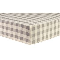 Trend Lab Check Deluxe Flannel Fitted Crib Sheet