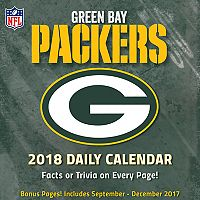 Green Bay Packers 2018 Daily Box Calendar