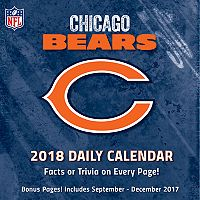 Chicago Bears 2018 Daily Box Calendar