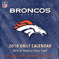 Denver Broncos 2018 Daily Box Calendar
