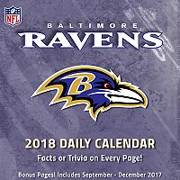 Baltimore Ravens 2018 Daily Box Calendar