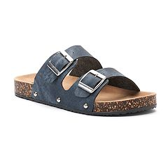 Mudd® Women's Denim Double Buckle Sandals