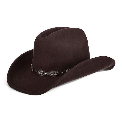 79384de0 Women's Scala Wool Felt Concho Outback Hat