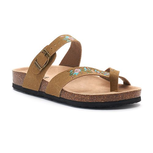 220bbc2cb68263 Mudd® Women s Floral Toe Loop Sandals