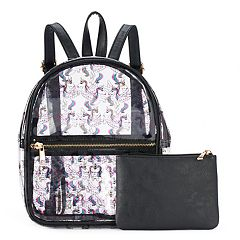 Transparent Magical Unicorn Mini Backpack with Pouch