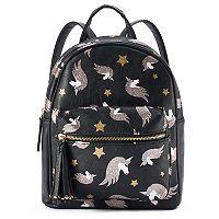 Glittery Unicorn Print Mini Backpack