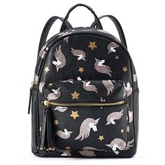 OMG Accessories Glittery Unicorn Print Mini Backpack