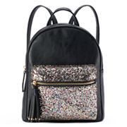 Glitter Embellished Mini Backpack