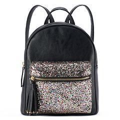 Glitter Embellished Mini Backpack