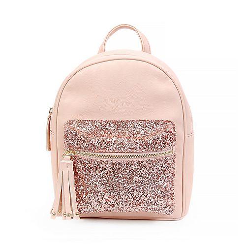 OMG Accessories Glitter Embellished Mini Backpack