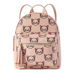 OMG Accessories Glam Kitty Print Mini Backpack
