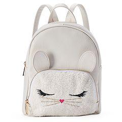 Fuzzy Bunny Mini Backpack