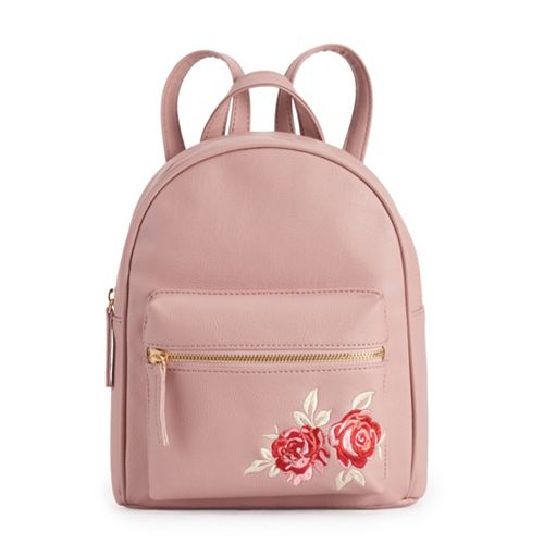 50c0170870 OMG Accessories Rose Embroidered Mini Backpack