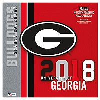 Georgia Bulldogs 2018 Wall Calendar