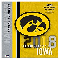 Iowa Hawkeyes 2018 Wall Calendar