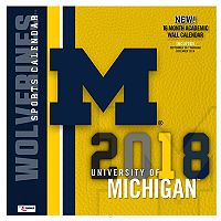 Michigan Wolverines 2018 Wall Calendar
