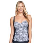 Women's Mazu Swim Ruched Snakeskin Tankini Top