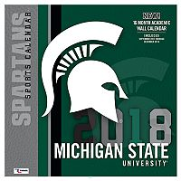 Michigan State Spartans 2018 Wall Calendar