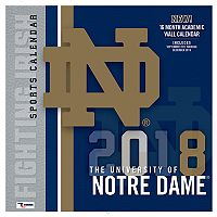 Notre Dame Fighting Irish 2018 Wall Calendar