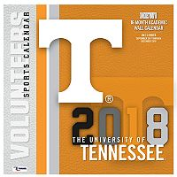 Tennessee Volunteers 2018 Wall Calendar