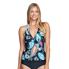 Women's Mazu Swim D-Cup Paisley Halterkini Top