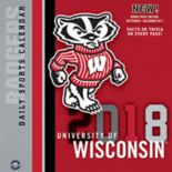 Wisconsin Badgers 2018 Daily Box Calendar