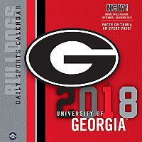 Georgia Bulldogs 2018 Daily Box Calendar