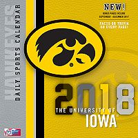 Iowa Hawkeyes 2018 Daily Box Calendar